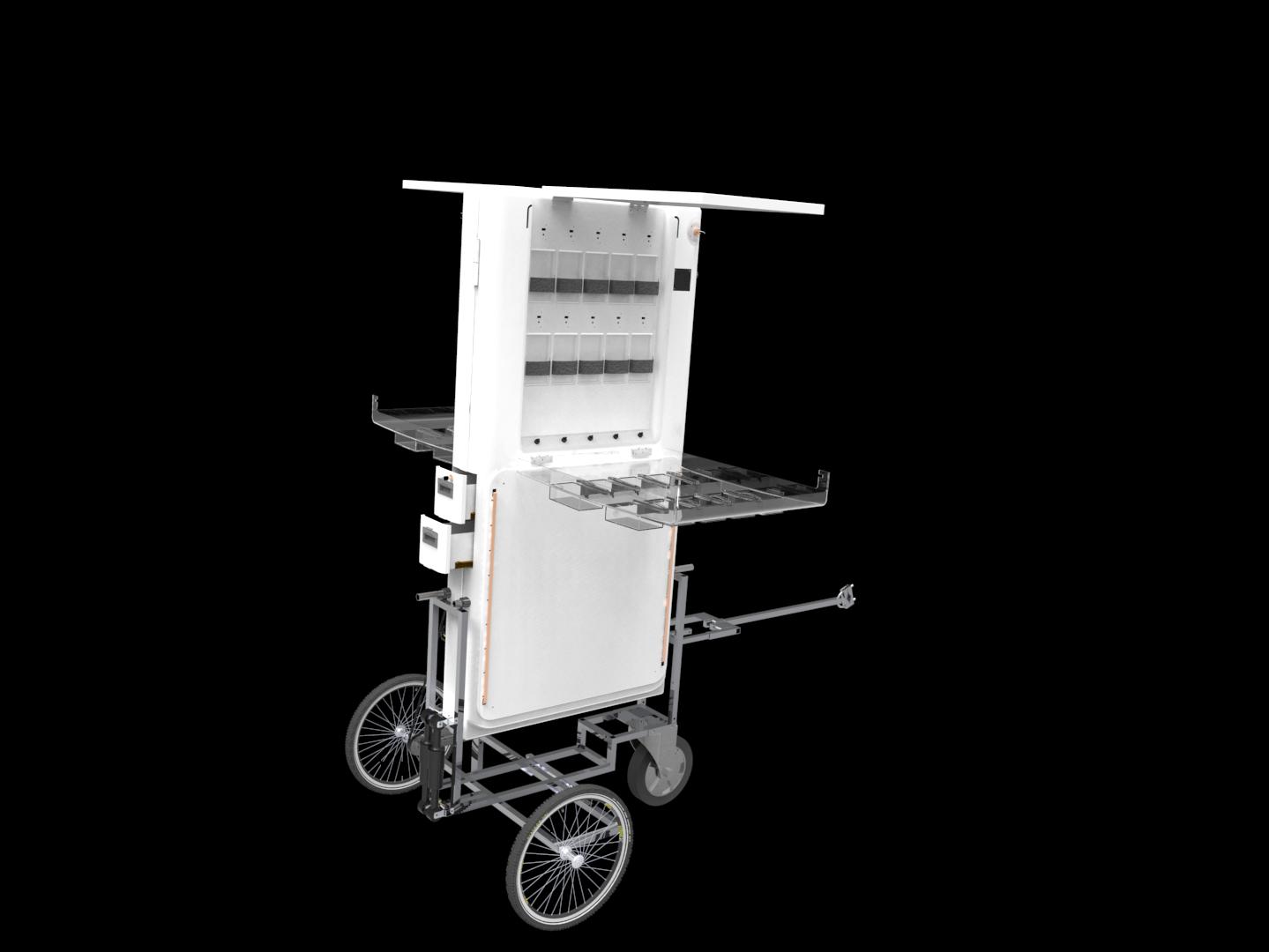Solar mobile charging kiosk indiegogo for Mobili kios