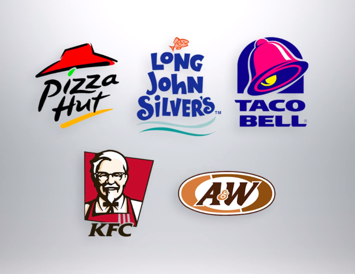 yum pizza hut kfc Yum brands is the parent company of pizza hut, taco bell and kfc they are all popular brands, but they might be better off own their own.