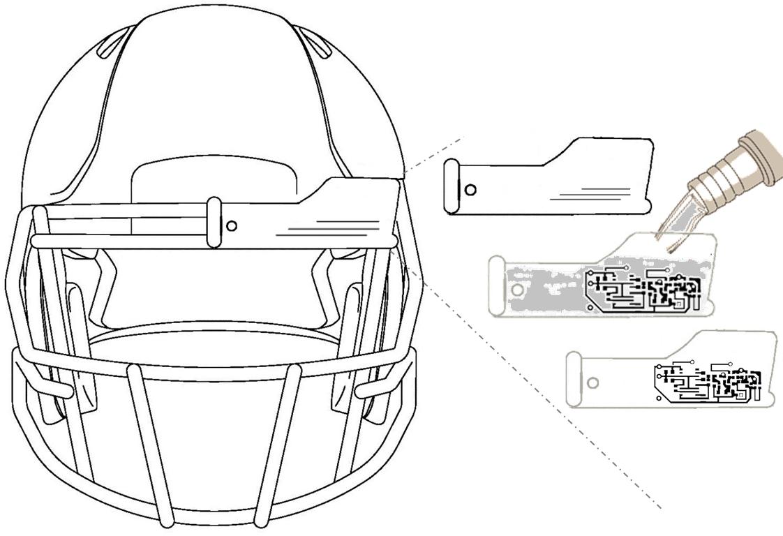 a football helmet cam