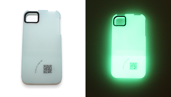 Findables iPhone iPad case glow in the dark
