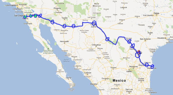 Mexican border map 1