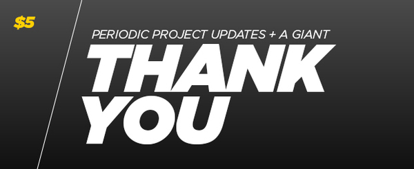 Periodic project updates and a giant Thank You!
