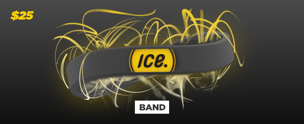 ICEdot Band (silicone wristband) and 1-Year ICEdot membership