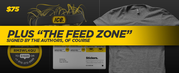 THE FEED ZONE + ICE PACK (ICEdot Band + 1 year membership + T-Shirt + Snap + Stickers)