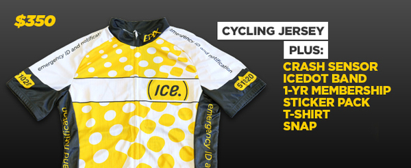 ICEdot Cycling Jersey + ICE PACK + Crash Sensor