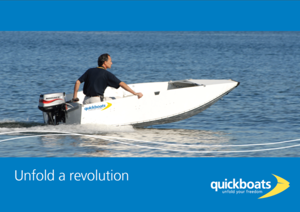 The 10.8' Quickboat glides safely and effortlessly through the water