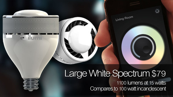 Large White Spectrum iLumi produces variations in white light