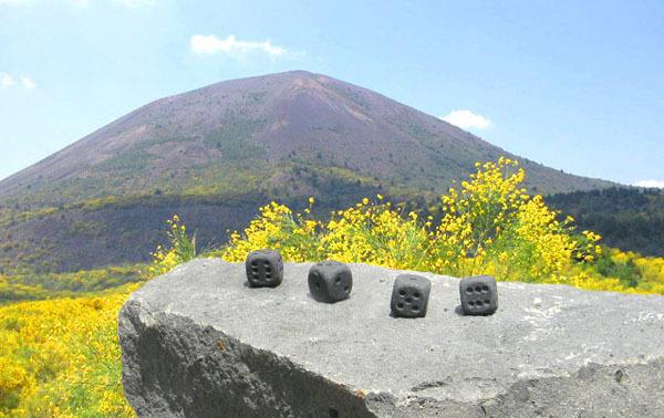 Eternity Dice Vesuvius volcano lava stone