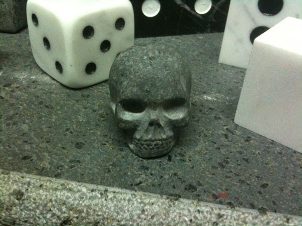 Eternity Skull carved in lava stone