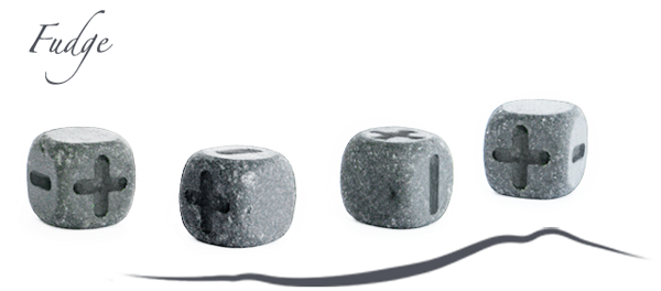 Fudge eternity dice lava stone