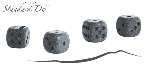 standard d6 lava stone dice