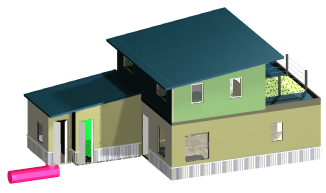 Cad, east view of structure