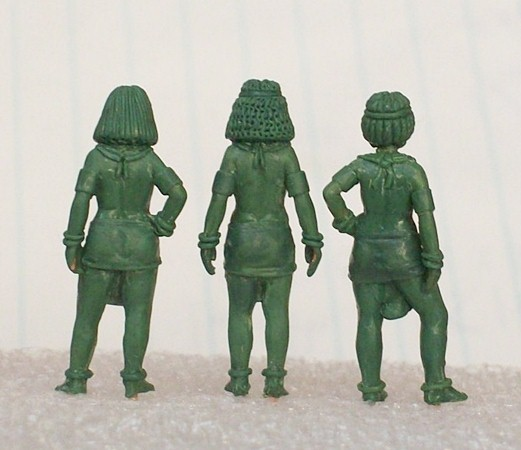 Rear View of the Egyptian Girls