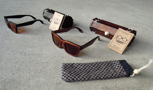 The First Urushi covered wooden sunglasses in the World