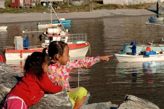Kids at the harbor