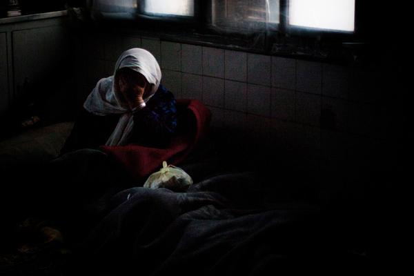 Refugee going blind, Kurdistan, Syria.