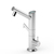 Bamboo Tri-Flow Faucet Brushed Nickel Large