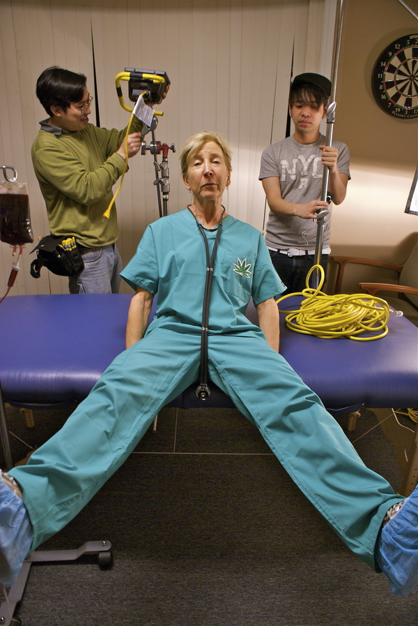 Lin Shaye Dr. 420 crotch shot