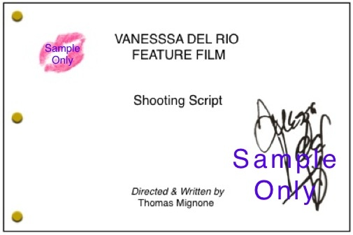 Example of the Film&#x27;s Shooting Script To Be Individually Signed by Vanessa