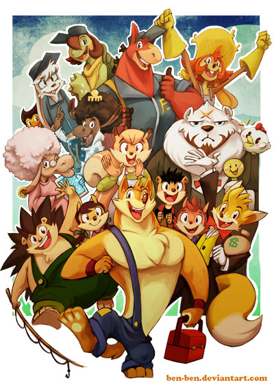Wuffle and friends by Benben, one of the 11 guest artists in the book. ^^
