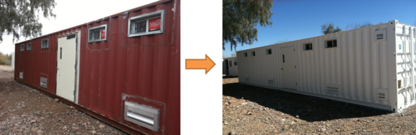 Container Clinic Before and After