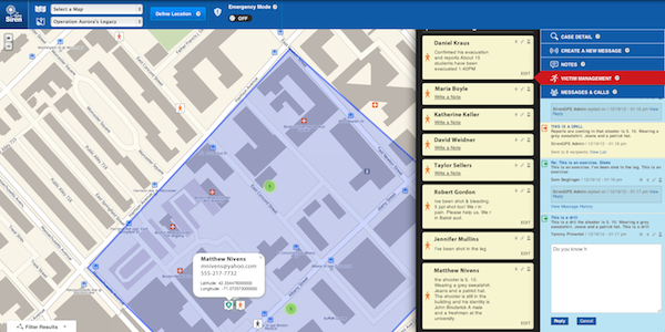 SirenEmergency: Emergency communication and management interface
