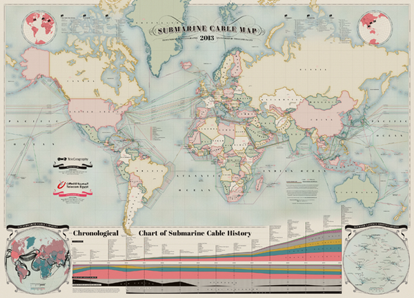 TeleGeography Map of the Internet
