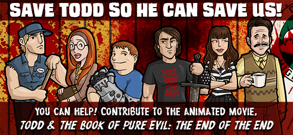 Indiegogo Banner for Todd Animated Movie