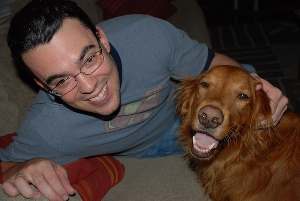 brettapproved founder Brett Heising and his dog Woodrow