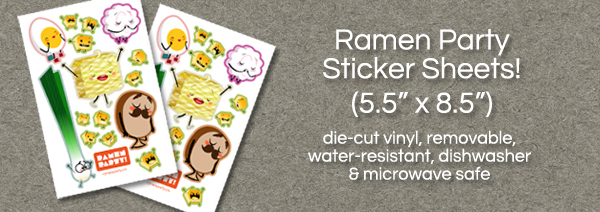Ramen Party Stickers