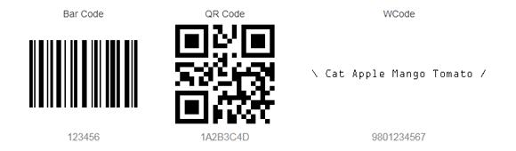 Comparison of bar-code, QR-code & WCode