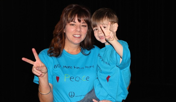Project Manager Melodie Joy and her son Stewart