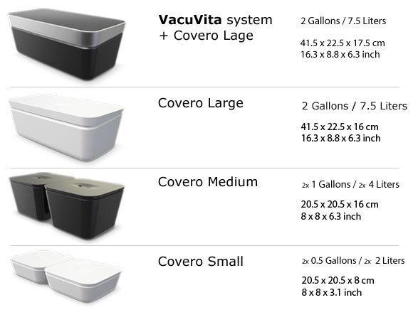 VacuVita sizes