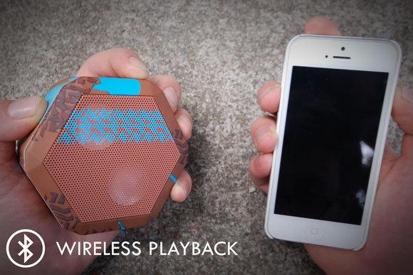 Boombot REX plays wirelessly via Bluetooth