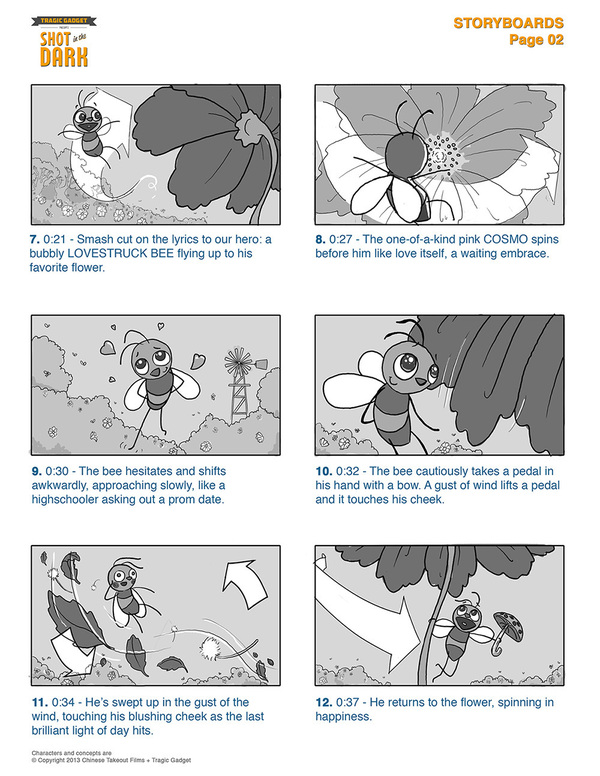 """""""Shot in the Dark"""" Storyboard Sample Page 02"""