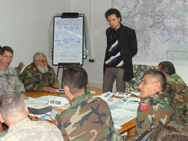 Interpreting for ISAF troops