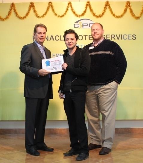 Employee award ceremony