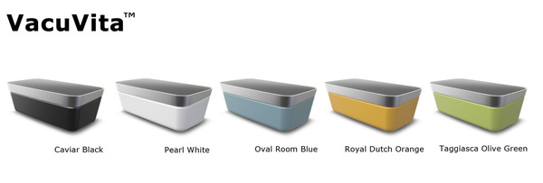 VacuVita, available in 5 different design colors