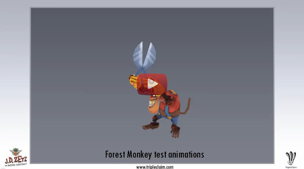 Forest Monkey Animation Tests