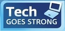 Tech Goes Strong Logo