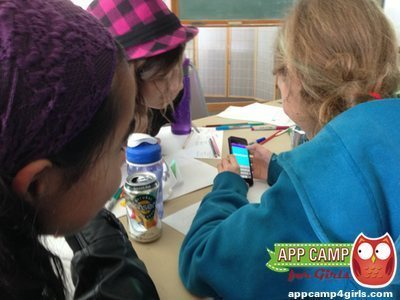 Girls Testing Their App