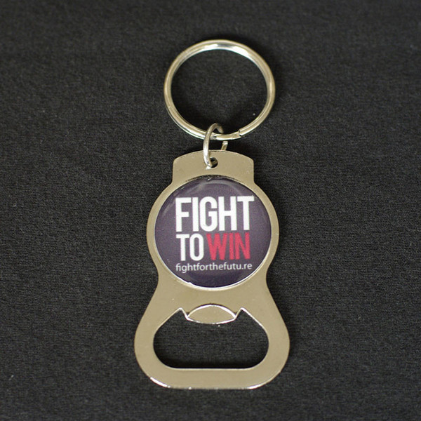 Fight to Win keychain bottle opener