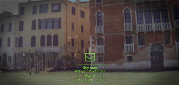 New mail notification to your field of vision, while in Venice