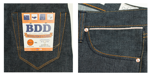 the original 6 pocket jeans