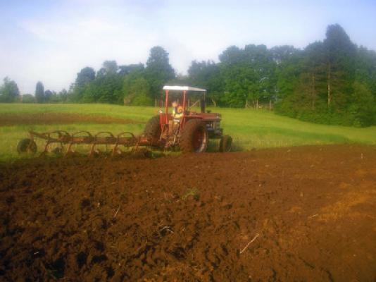 Plowing Eastleigh Farm