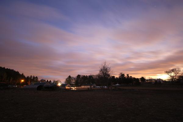 Sunrise on Eastleigh Farm