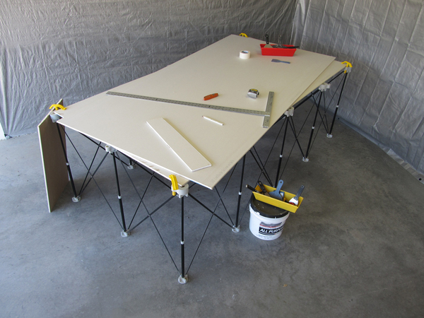 Drywall Measuring, Marking and Cutting Station