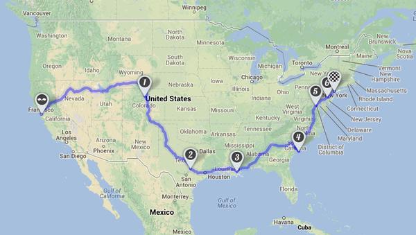 UnLtd USA Roadtrip Startup Drive Indiegogo - Roadmap of us