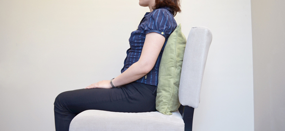QiPillow helps its user maintain an healthy upright sitting posture