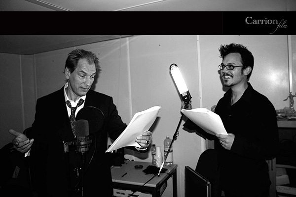 Julian Sands with Ashley Thorpe for Borley Rectory